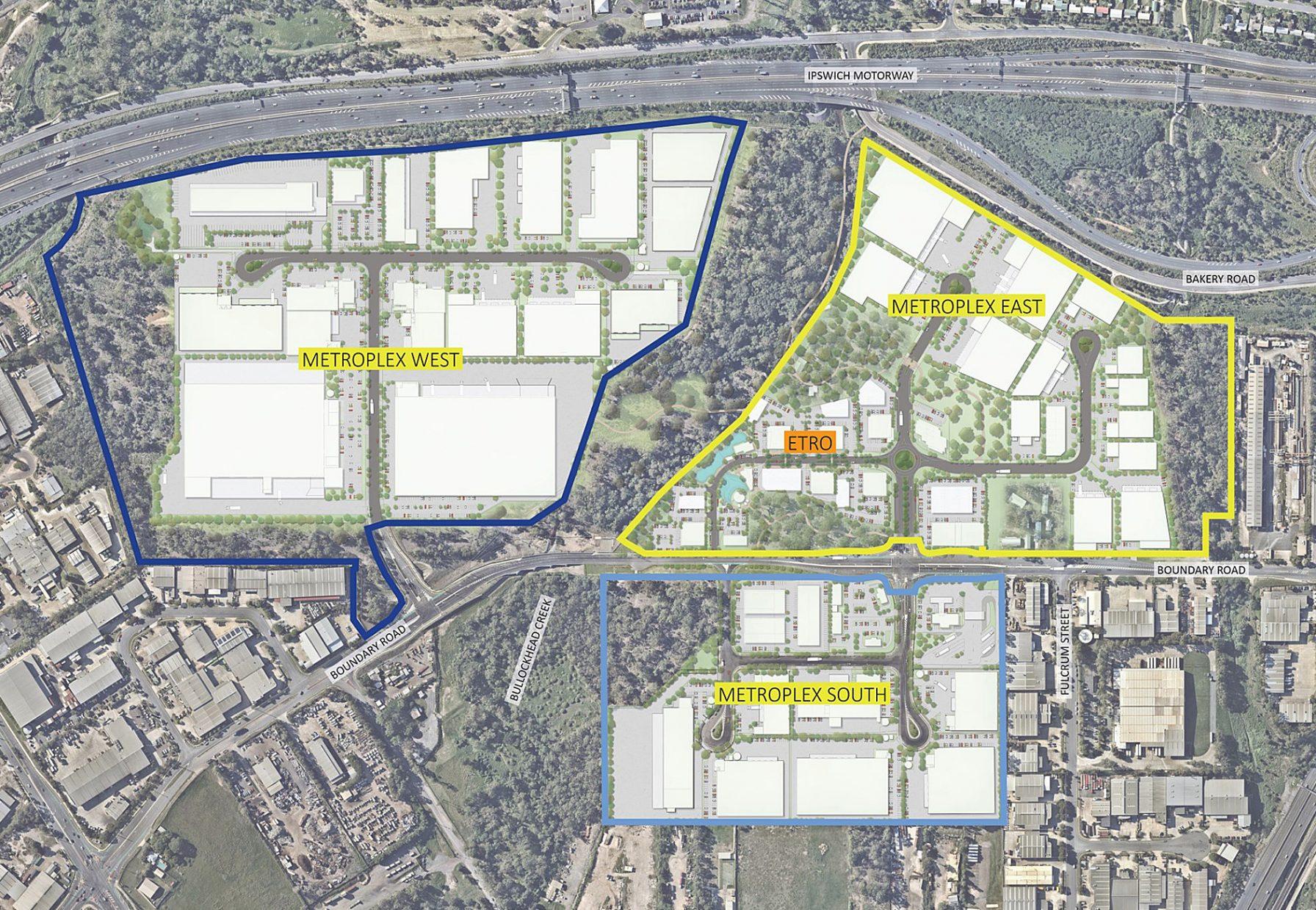 Metroplex Westgate aerial of precinct plan